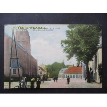 Sint Michielsgestel 1910 - Dorpsplein met R.K.Kerk