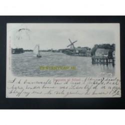 Holland 1901 - dorpje-zee-boot-molen