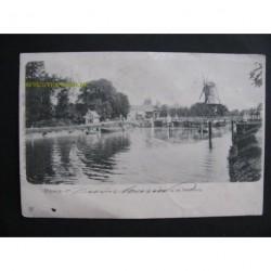 Rijswijk 1900 - gezicht op de Hoornbrug - molen