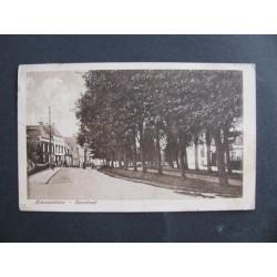 Nieuweschans 1919 - Voorstraat met bomen