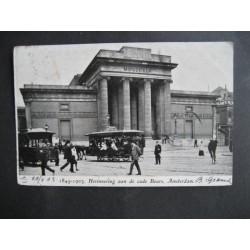 Amsterdam 1903 - paardentram bij de oude Beurs