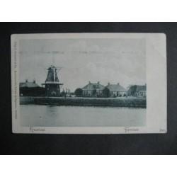 Farmsum - Nieuwstad ca. 1900 - molen en kanaal