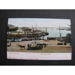 Rotterdam ca. 1900 - gezicht op de Maas