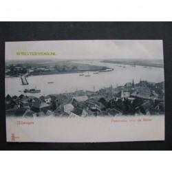 Nijmegen ca. 1900 - Panorama over de rivier