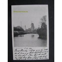 Zwolle 1900 - Stadsgracht met molen