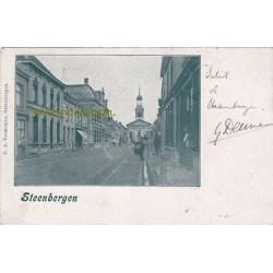 Steenbergen 1901 - gezicht op kerk
