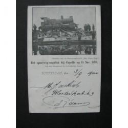 Capelle 1899 - spoorweg ongeluk -stoomlocomotief-voorloper