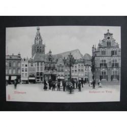 Nijmegen ca. 1900 - Kerkpoort en Waag
