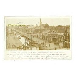 Drachten 1903 - fotokaart groet uit Drachten - in vogelvlucht