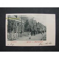 Appingedam 1901 - Stationstraat - groete uit