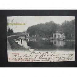 Voorburg 1902 - kerk-hotel-brug-