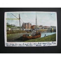 Terneuzen 1905 - Westhaven met postkantoor