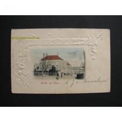 Goes 1904 - groet uit -gezicht op De Dam