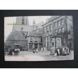 Rhenen ca. 1910 - kiekje te Rhenen - bij de pomp