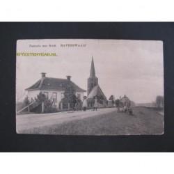 Ravenswaaij 1920 - pastorie met kerk