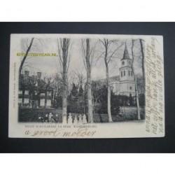 Waardenburg 1905 - Huize Schuilkerke en kerk