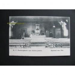 Egmond aan Zee ca. 1910 - Noodhulpkerk-van binnen gezien