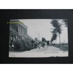 Stavenisse ca. 1910 - Openbare lagere School - groet uit