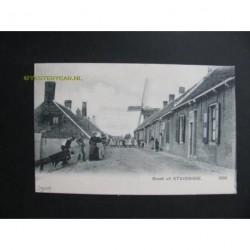 Stavenisse ca. 1910 groet uit + gezicht op molen