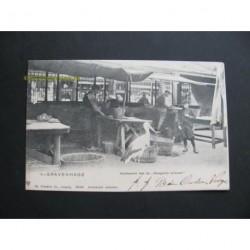 Den Haag 1904 - Vischmarkt met de Haagsche ooievaar