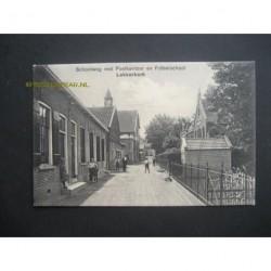Lekkerkerk ca. 1910 - Schoolweg - ppostkantoor- Frobelschool