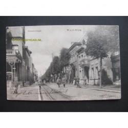 Waalwijk 1924 - Grootestraat - links Hotel Verwiel