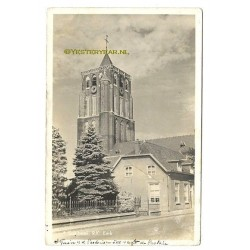 Sambeek 1942 - toren - tuin pastorie