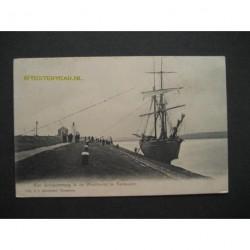 Terneuzen ca. 1910 - schip omhoog in de Westhaven