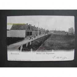 Terneuzen ca. 1900 - Station met de Feijterstraat