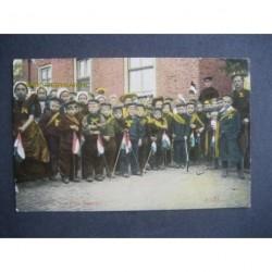 Axel ca. 1900 - kinderen met sjerp en vlag