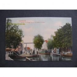 Overschie 1909 - gezicht op de Lage Brug en het bootje de Schie