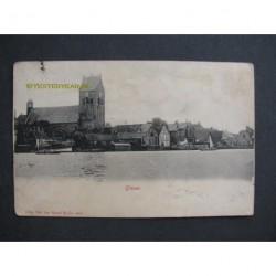 Grouw 1903- panorama vanaf het water