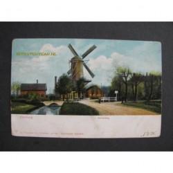 Voorburg 1905 - Achterweg met molen