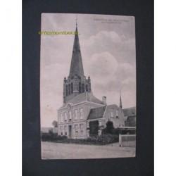 Hoogerheide 1921 - kerk toren en pastorie