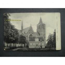 Wouw ca. 1915 - kerk met raadhuis