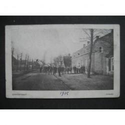 Chaam 1915 - Dorpsstraat - met militairen