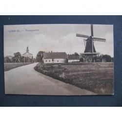 Laren ca. 1915 - dorpsgezicht - molen