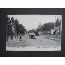 Beverwijk 1902 - Breestraat met stoomtram