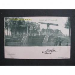 Vreeswijk 1900 - groet uit - hefbrug