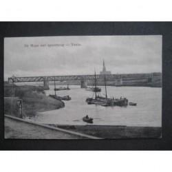 Venlo 1913 - de Maas met spoorbrug