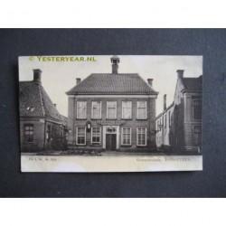 Hoogeveen ca. 1900 - Gemeentehuis - Hoofdstraat