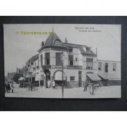 Egmond aan Zee 1912 - Dorpstraat met Lunchroom