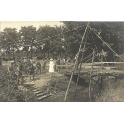 Tilburg 1915 - Koningin Wilhelmina inspecteert- fotokaart