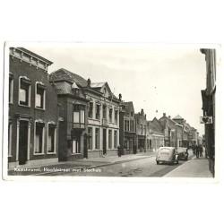 Kaatsheuvel 1943 - Hoofdstraat met stadhuis