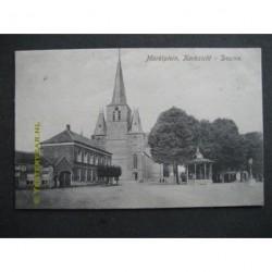 Deurne 1915 - Marktplein - kerkzicht