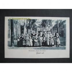 Serooskerke ca. 1905 - uitgaan der school