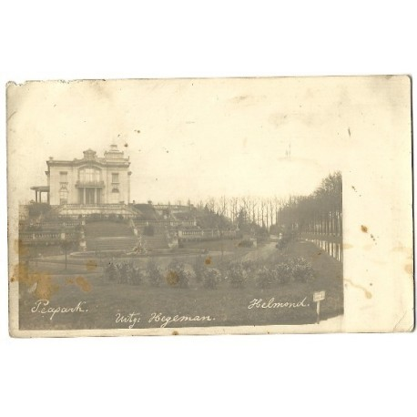 Helmond ca. 1900 - Peapark - Villa Warande - fotokaart