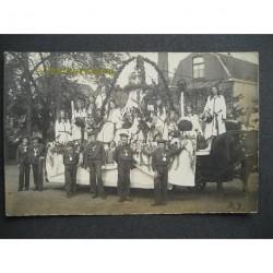 Haarlem ca. 1923 - optocht praalwagen - fotokaart