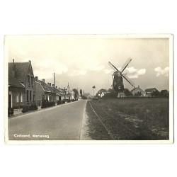 cadzand ca. 1940 - Mariaweg met molen