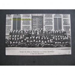 Cadier en Keer ca. 1910 - leerlingen en leraren- school